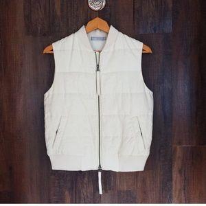 Vince White Cream Winter Vest SZ Extra Small
